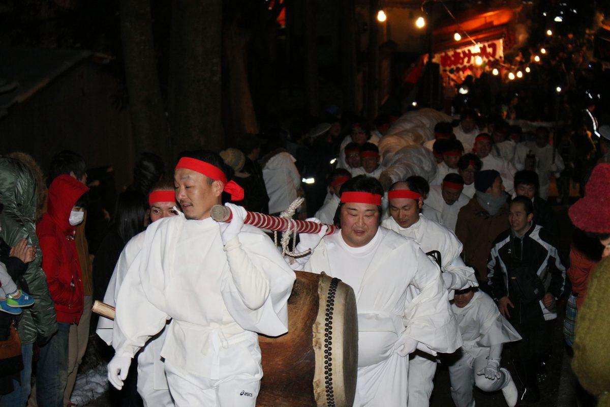 刈田嶺神社暁詣り